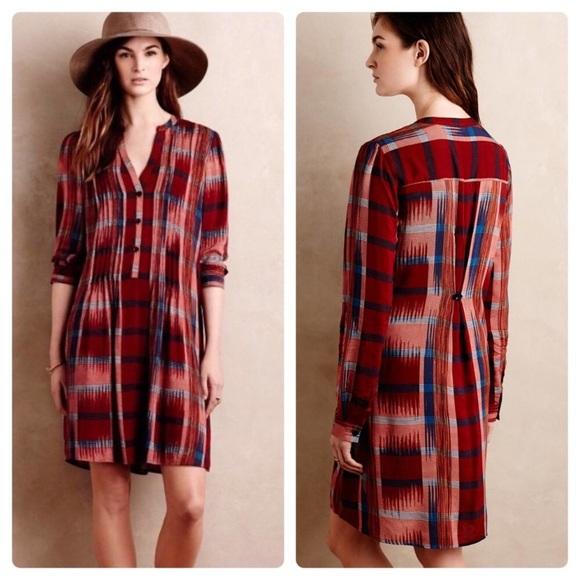 5cce8771cc8c Anthropologie Dresses & Skirts - Anthropologie Tylho São Paulo plaid tunic  dress XS
